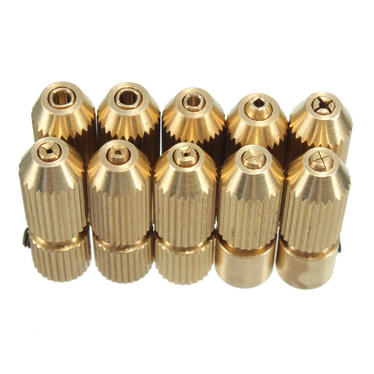 2.3mm Brass Electric Motor Shaft Clamp Fixture Chuck Mini Small For 0.7mm-3.2mm Drill Micro Drill Bit Clamp Fixture Chuck