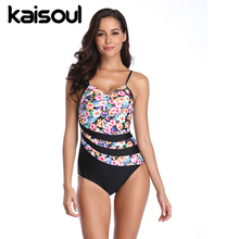One Piece Black Print Swimsuit Tankini Women Swimming  Beachwear Sexy Bikini Swimwear New Arrival