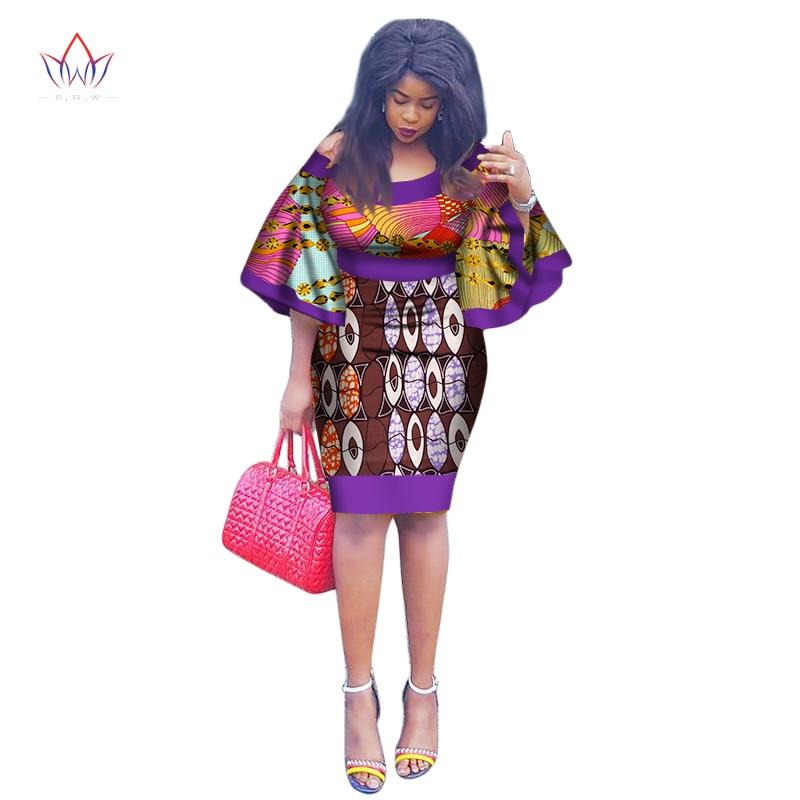 2018 New African party Dress Summer Brazil Maxi Plus Size O-Neck Dashiki Print vintage Dress for Women Vestido Curto 7xl WY1991