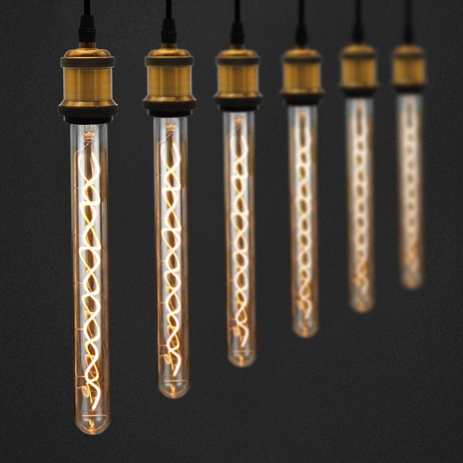 TIANFAN Edison Bulbs Vintage Light Bulb T32 300MM Long Led Bulb Spiral Filament 4W Dimmable 220/240V E27 Decorative Light Bulb