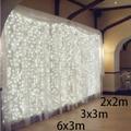 3 M x 3 M 300 LEVOU icicle Luz Do Casamento Do Natal Luz Cortina de LED Luz Fada String Lâmpada Festa De Aniversário Guirlanda Jardim decoração