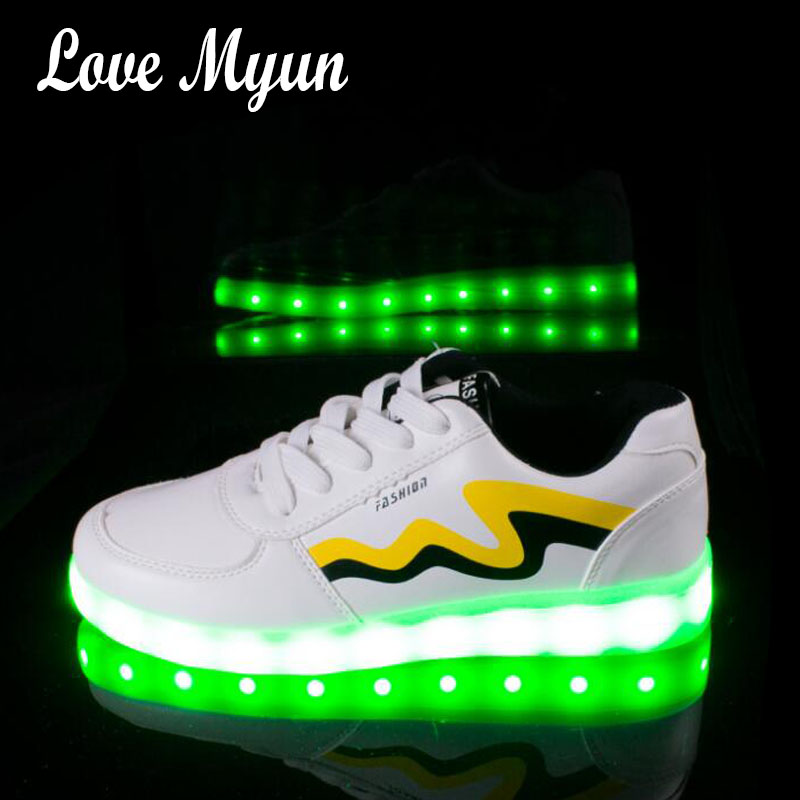 Men shoes for adults neon bask Boy Usb Colorful glowing led shoes with lights up luminous men casual sneaker shoes II-300 недорго, оригинальная цена
