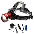 Super bright headlamp waterproof adjustable led headlight tactical head flashlight lanterna by 18650/AAA battery+car charger