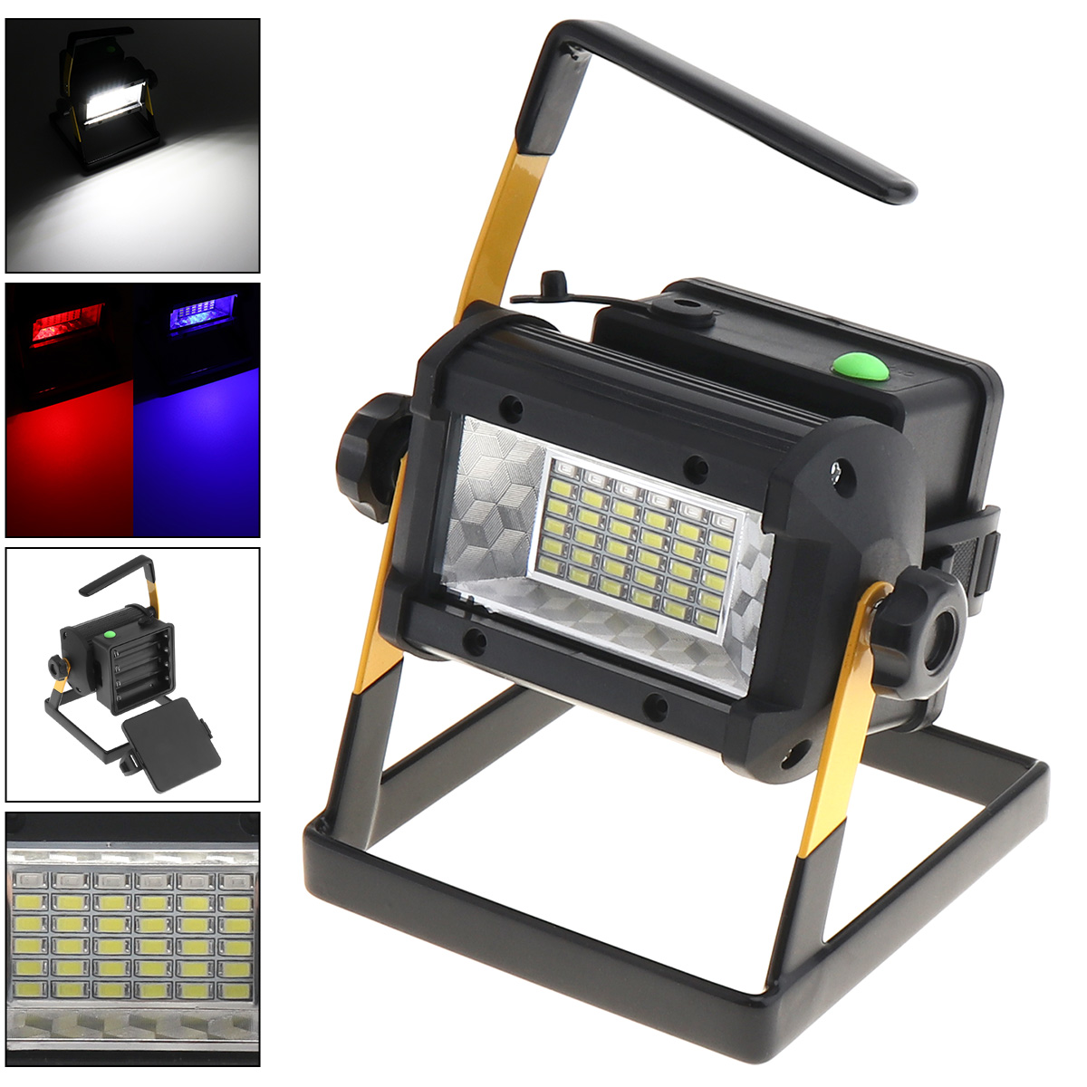 Floodlights Capable 50w Waterproof Search Led Floodlight 36 Xpe Leds Emergency Lamp With 3 Modes Brightness Portable Stent For Site/outdoors/camping Latest Technology Outdoor Lighting