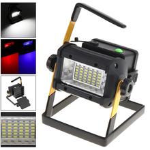 50W Waterproof Search LED Floodlight 36 XPE Leds Emergency Lamp with 3 Modes Brightness Portable Stent for Site/Outdoors/Camping