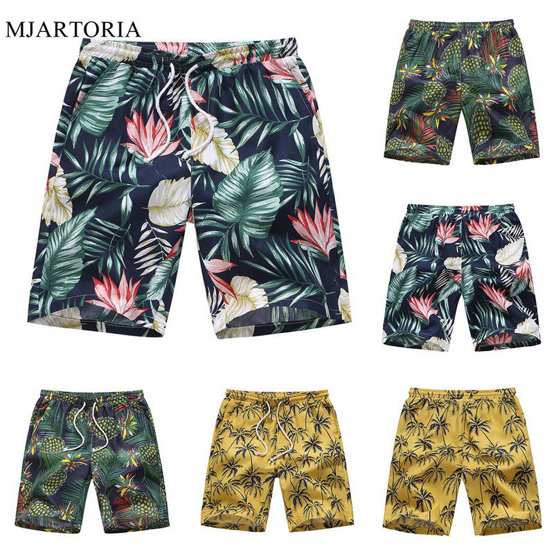 Summer Men Shorts Swim Hawaii Shorts Quick Dry Beach Shorts Floral Print Short Masculino Casual Pantalones Cortos Swimwear