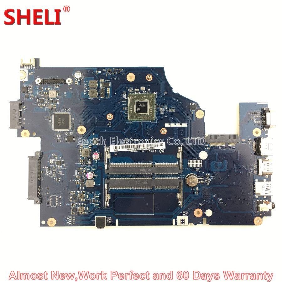 SHELI NBMLF11002 NB.MLF11.002 Laptop Motherboard For Acer Aspire E5-521 Z5WAE LA-B232P System Board Main Board E2-6110 1.5Ghz wzsm original usb board with cable for acer aspire e5 521 e5 571 usb board ls b162p tested well