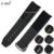 Substituição zlimsn 22mm preto dos homens pulseiras de relógio mergulhador spe105 extremidade curva de borracha de silicone assista band strap fecho substituição