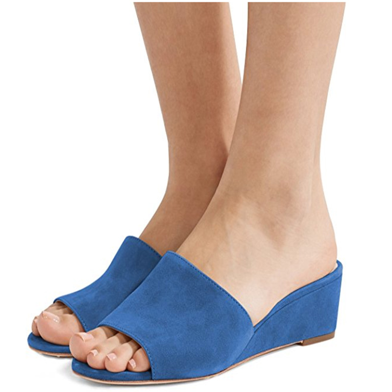 c4cfdc35bfb Detail Feedback Questions about FSJ Women Low Heel Wedge Sandals ...