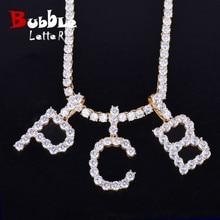 Collares con letras de tenis de circón y colgante nombre personalizado  encanto para hombres mujeres oro plata moda Hip Hop joyer. 4eb2226c05993