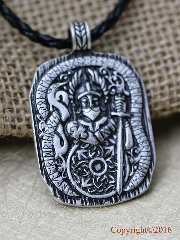 J Brace Collier Viking Cha/îne en argent avec marteau Thor