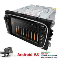 2G+16G Android 9.0 4G Car Radio Multimedia Video Player Navigation GPS For ford focus Mondeo Galaxy Transit Connect 2 din dvd CD