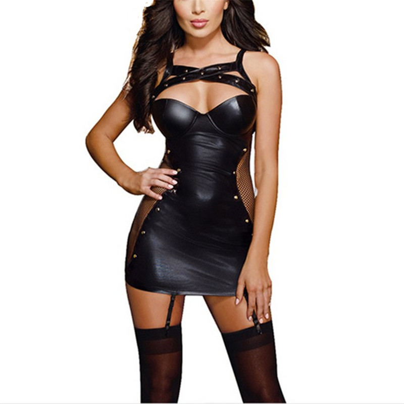 Sexy lingerie women erotic body underwear pyjamas dress halter backless for adults suit