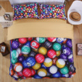 Creative Billiards 3D Bedding Set Polyester/Cotton Duvet Cover 4pcs Bed Sheet Sets King Queen Twin Size Kids Bedroom Textile
