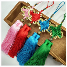 12pcs/lot 12cm Chinese knot double tassel silk fringe sewing trim decorative key tassels for curtains home decoration