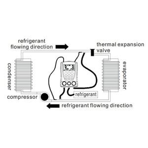Image 5 - DY517 Refrigeration Pressure Gauge Digital Vacuum Pressure Manifold Tester Meter HVAC Temperature Tester