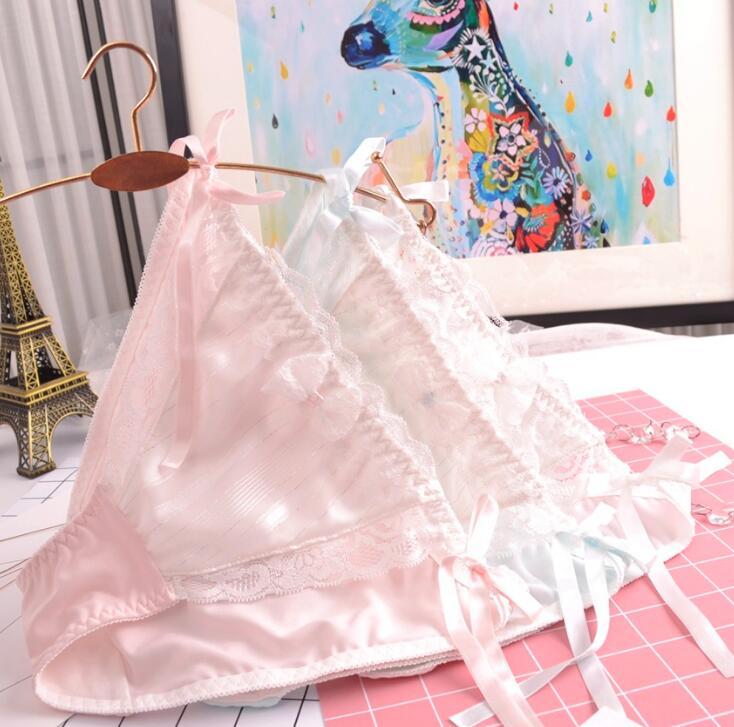 Кружевные трусики с завязками сбоку, 100% реальные фотографии, M L XL, милые кружевные трусики принцессы в Стиле Лолита, нижнее белье, короткие т...