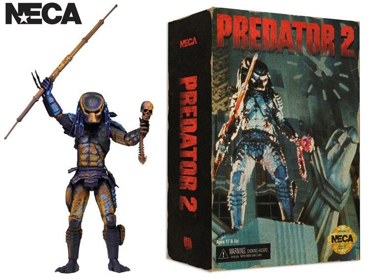 NECA prédateur 2 ville chasseur jeu vidéo apparence lance trophée crâne intelligent disque 7
