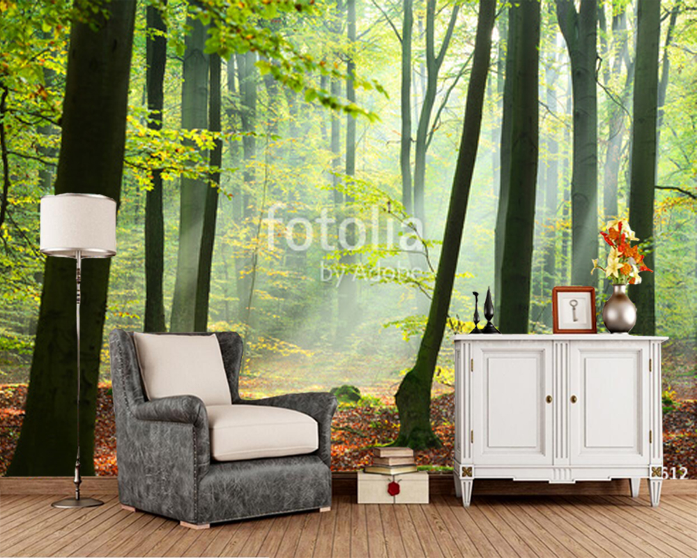Custom tree wallpaper,forest sunshine,natural landscape murals for living room bedroom sofa background wallpaper papel de parede custom green forest trees natural landscape mural for living room bedroom tv backdrop of modern 3d vinyl wallpaper murals