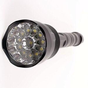 Image 5 - Sofirn linterna LED potente C15, linterna táctica militar de autodefensa, luz de Camping, lámpara de caza, 18650 3 * Cree XML T6