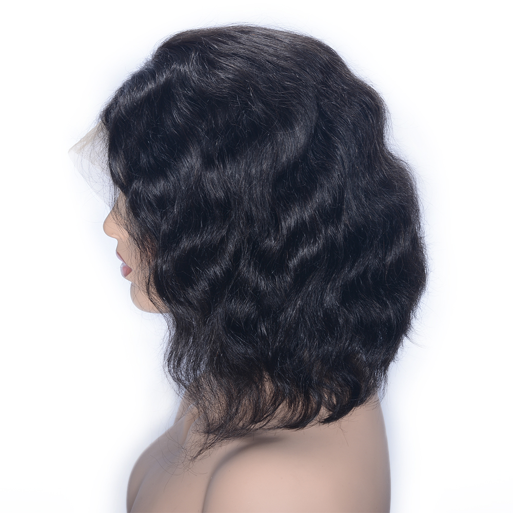 Natural Wave Full Lace Human Brazilian Hair Wigs For Women With Baby Hair Pre Plucked Hairline Remy Hair Natural Black Favor