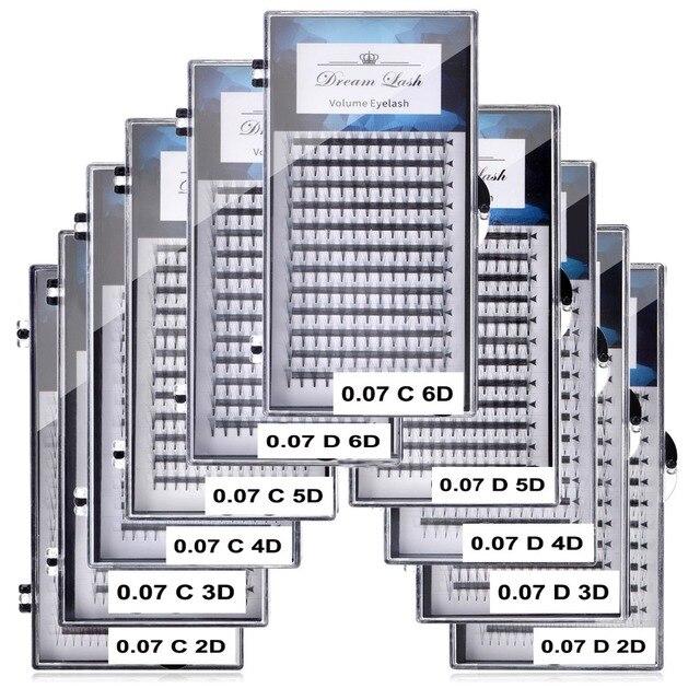 2D 3D 4D 5D 6D Fans Volume Eyelash Extension Individual Premium Cilios Premade Russian Cluster Eye Makeup Tool 12lines