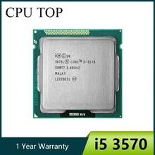 Процессор intel i5 3570 четырехъядерный 3,4 ГГц L3 = 6 м 77 Вт Разъем LGA 1155 настольный процессор Рабочая