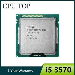Процессор intel i5 3570 четырехъядерный процессор 3,4 ГГц L3 = 6 м 77 Вт Разъем LGA 1155 настольный процессор работает 100%