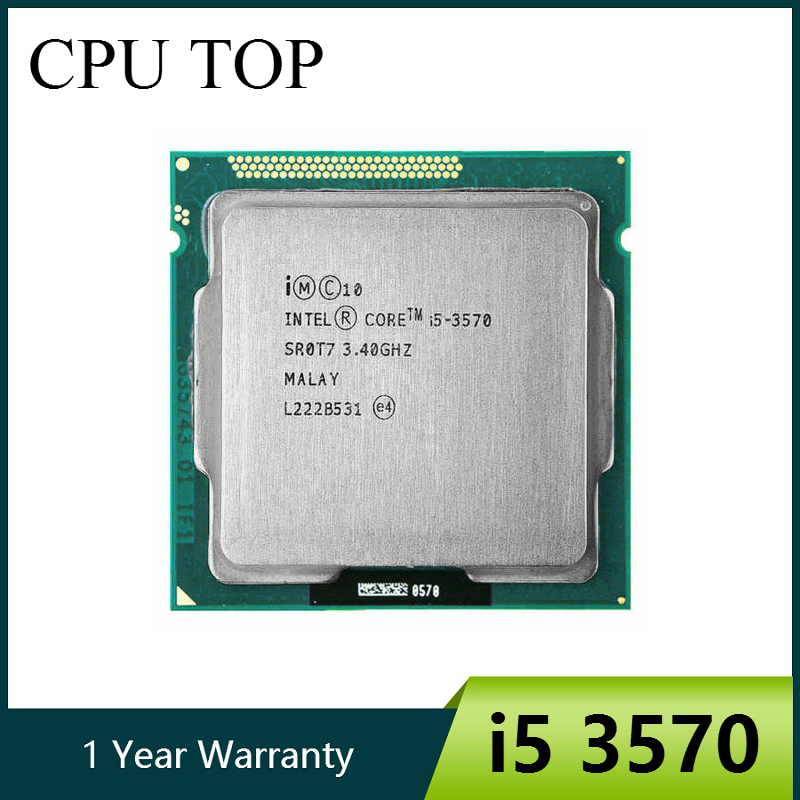 Original lntel I5 3570 Processor Quad-Core 3.4Ghz  L3=6M 77W Socket LGA 1155 Desktop CPU working 100% + Free Shipping gadget