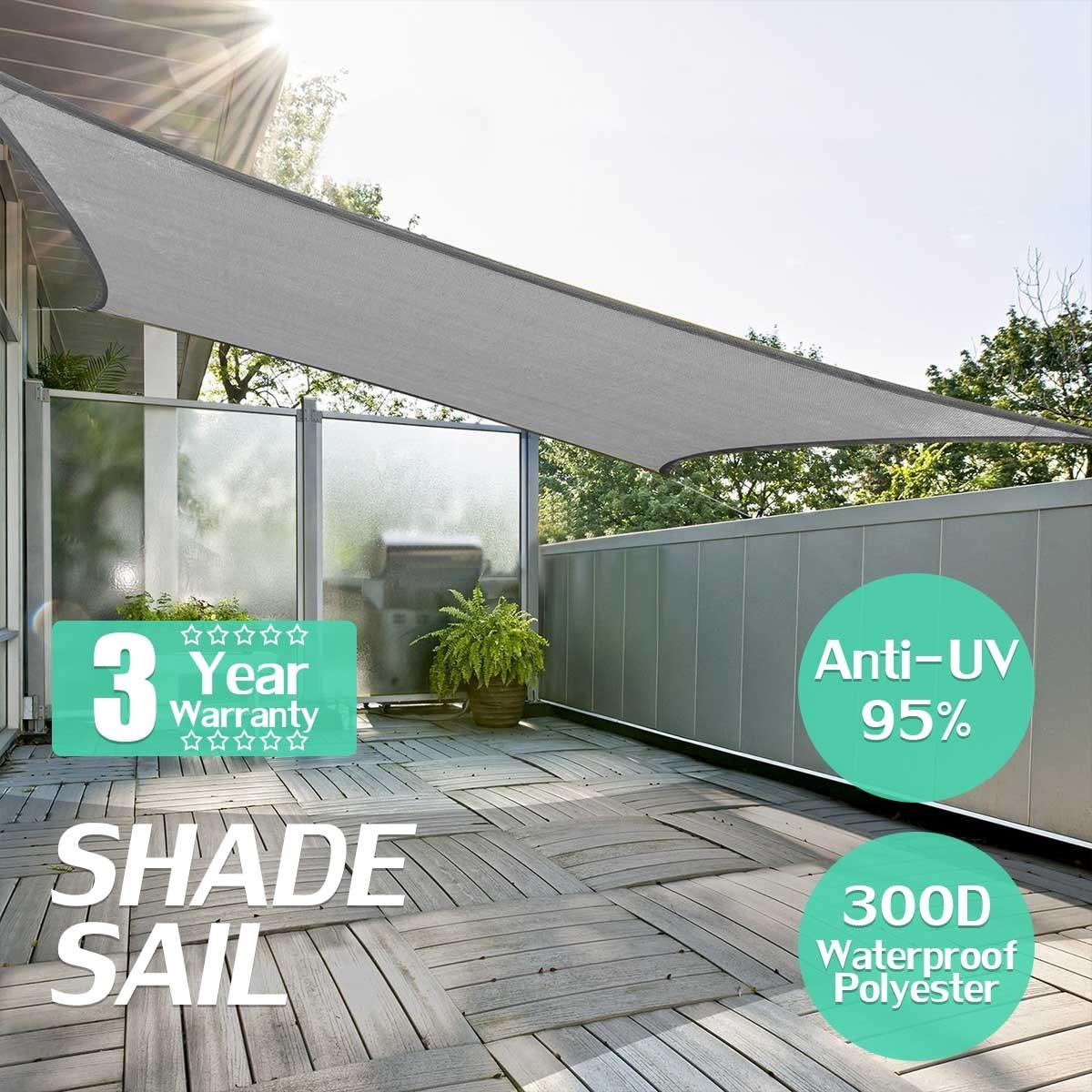 Grey Square 3x3/4x4m Retractable Sun Shade Shelter 160GSM HDPE Farbic Garden Awning Canopy Sunshade цены онлайн