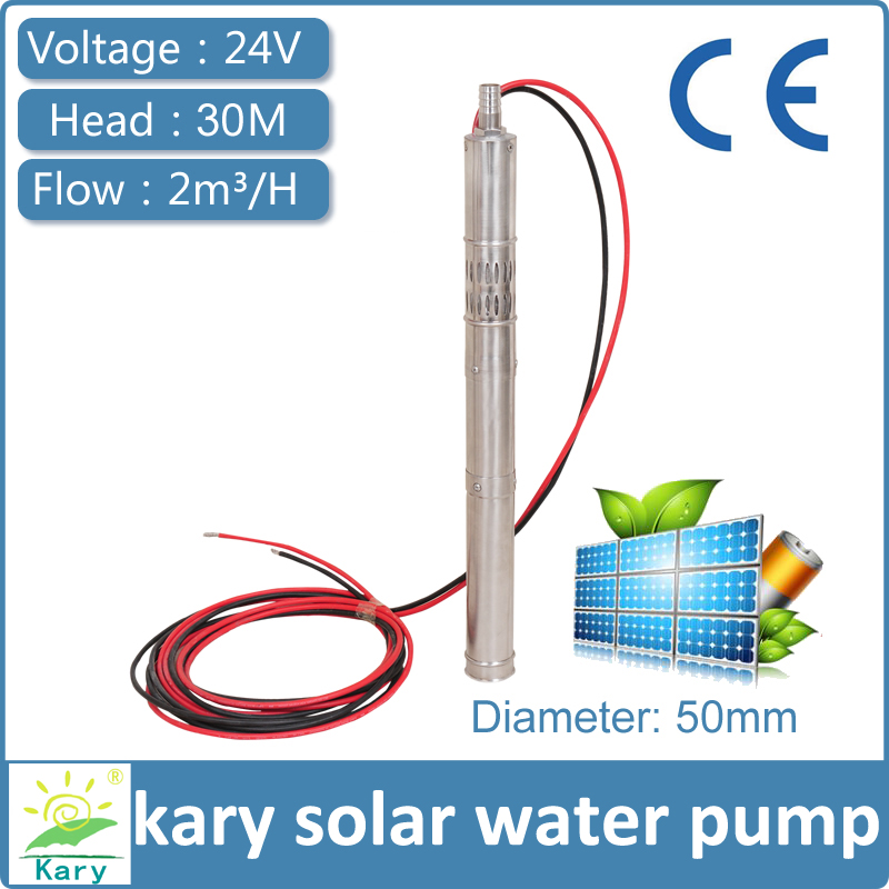 24v Dc Solar Water Pump Deep Well Submersible Pump 50mm