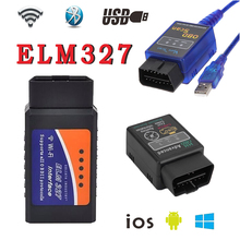 High Quality WIFI ELM327 V1.5 OBD2 Auto Code Reader Mini 327 Car diagnostic interface ELM 327 Bluetooth WIFI USB Diagnostic Tool
