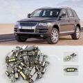 Бесплатная доставка! # 111 15x VW Touareg 2004 - 2010 белый из светодиодов фонари комплект интерьер пакет CANBUS