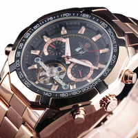 FORSINING Mechanical Watches Stainless Steel Men Automatic Flying Tourbillon Watches Men S Big Gold Wrist Watch