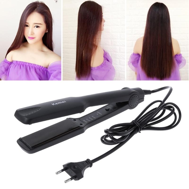 KEMEI High Quality KM-329 Professional Tourmaline Ceramic Heating Plate Hair Straightener Styling Women Hair Care Appliance
