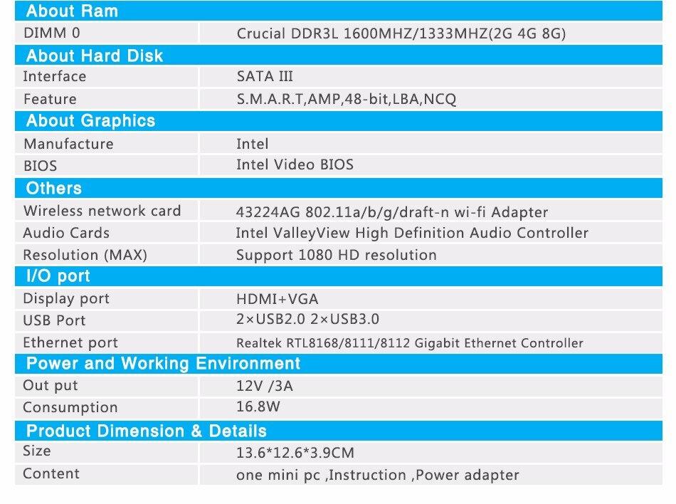 Мини ПК Windows 10 Intel Celeron 3755 J1800 J1900 Pentium 3805U Miciro компьютер 2* Gigabit Ethernet 2* RS232 4* USB промышленный ПК