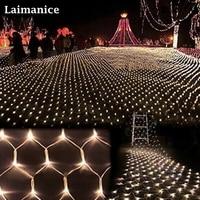 2600 светодиодный 8 м x 10 м Главная Открытый Праздник Рождества декоративные свадебные xmas Строка Фея Шторы гирлянды полосы вечерние чистый све