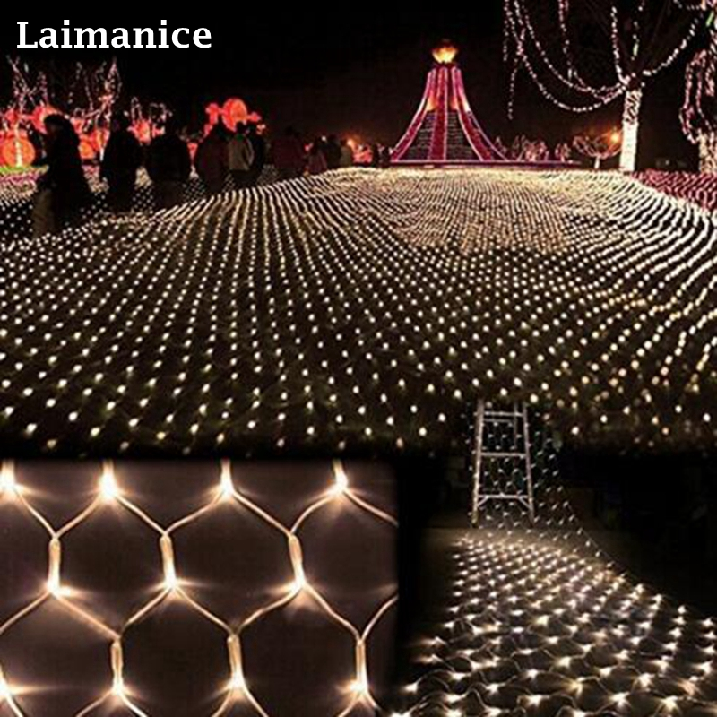 2600 LED 8M x 10M Home Outdoor Holiday Christmas Decorative Wedding xmas String Fairy Curtain Garlands Strip Party Net Lights недорого