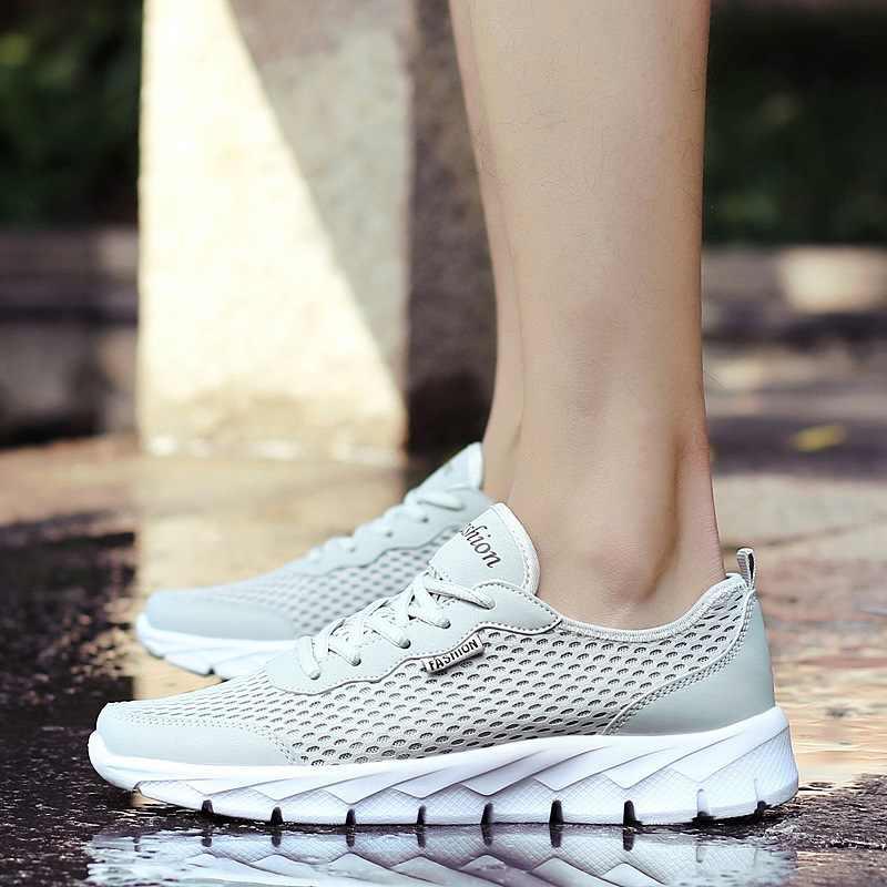 REETENE размера плюс 38-48 летние мужские кроссовки высокого качества из сетчатого материала дышащая повседневная обувь мужская модная обувь
