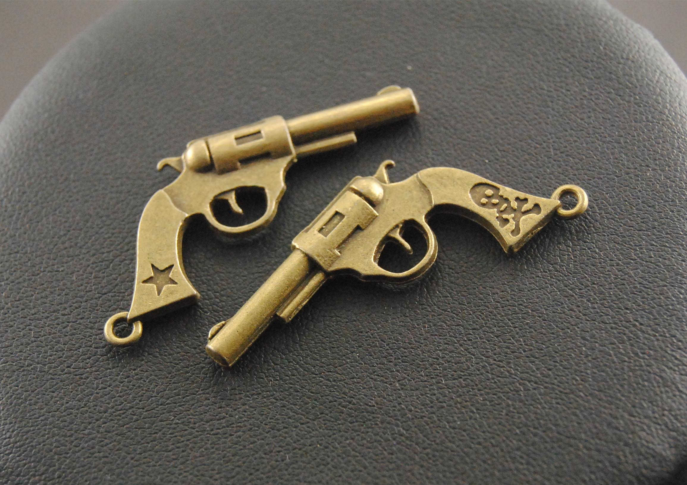 Accessoires Salle De Bain Charme ~  5 pcs antique bronze r tro pistolet pendentif t l phone