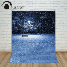 Pictures – background for photos Snowflake street lamp Trees Christmas children's photographic camera backdrop vinyl