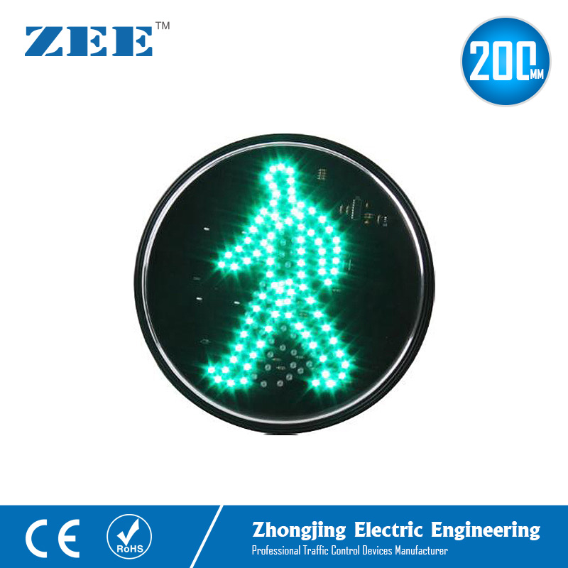 Купить с кэшбэком 200mm Green Waking Man LED Traffic Signal Module Green Pedestrian Traffic Lamp Zebra Crossing Light