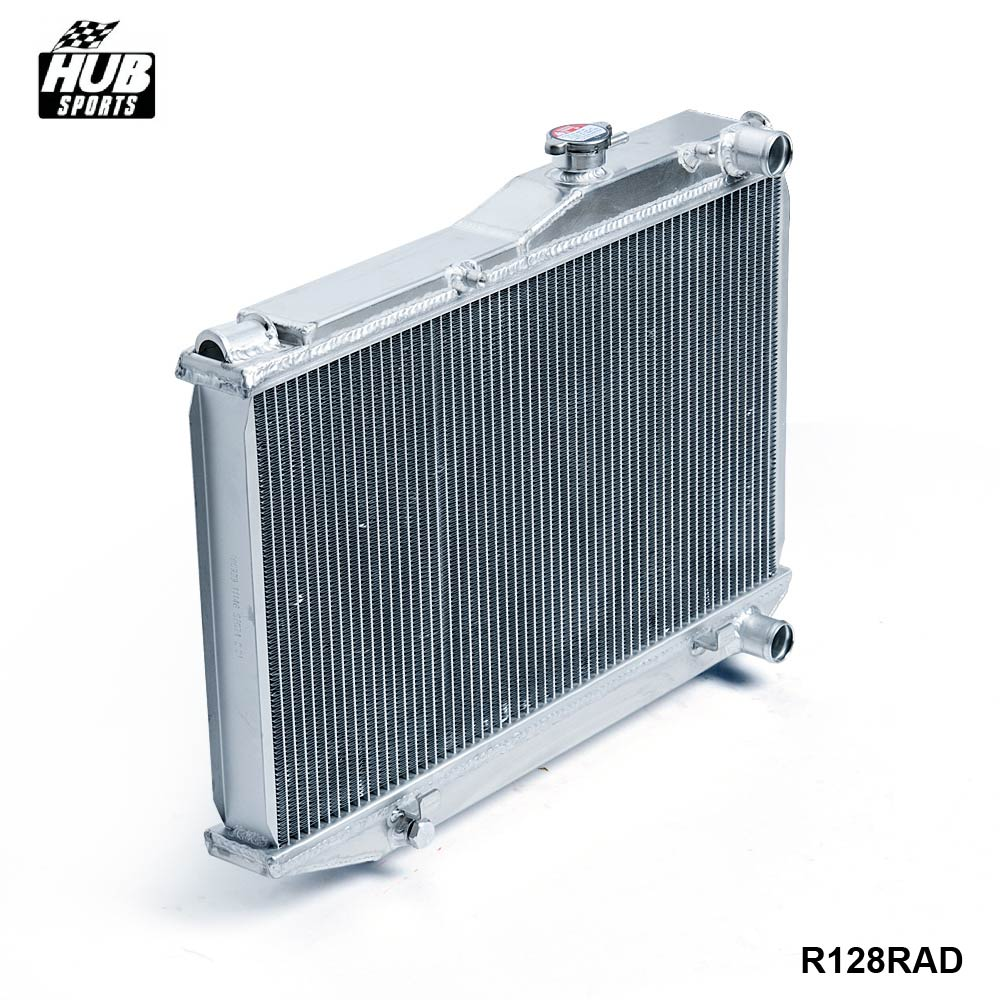 цена на - Aluminum 2 Row Dual Core Aluminum Radiator Manual For Corolla AE86 83-87 HU-R128RAD