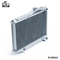 Aluminum 2 Row Dual Core Aluminum Radiator Manual For Corolla AE86 83 87 HU R128RAD