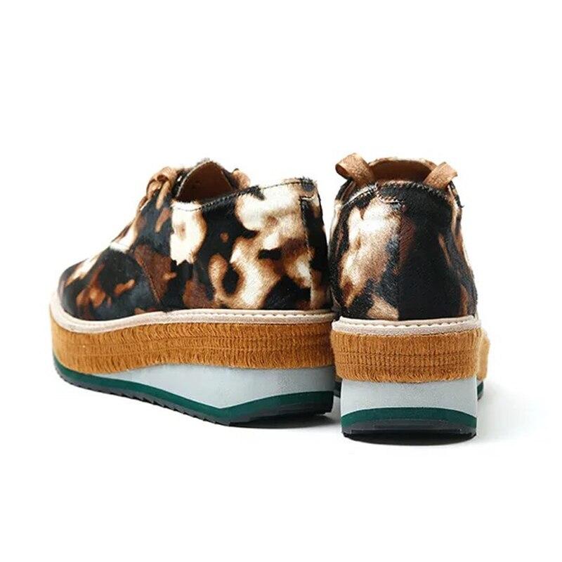 Ugi Véritable Derbies Blanc apricot Creepers Pour Chaussures Printemps Cuir Femmes Automne Plate Dames En Camouflage forme pfpwrq7S