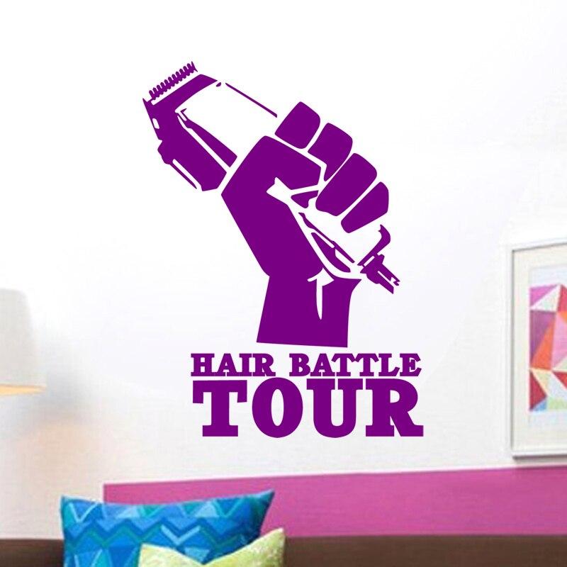 Təraş Salonu Etiketli Saç Qırışları Gentleman Decal Saç - Ev dekoru - Fotoqrafiya 3