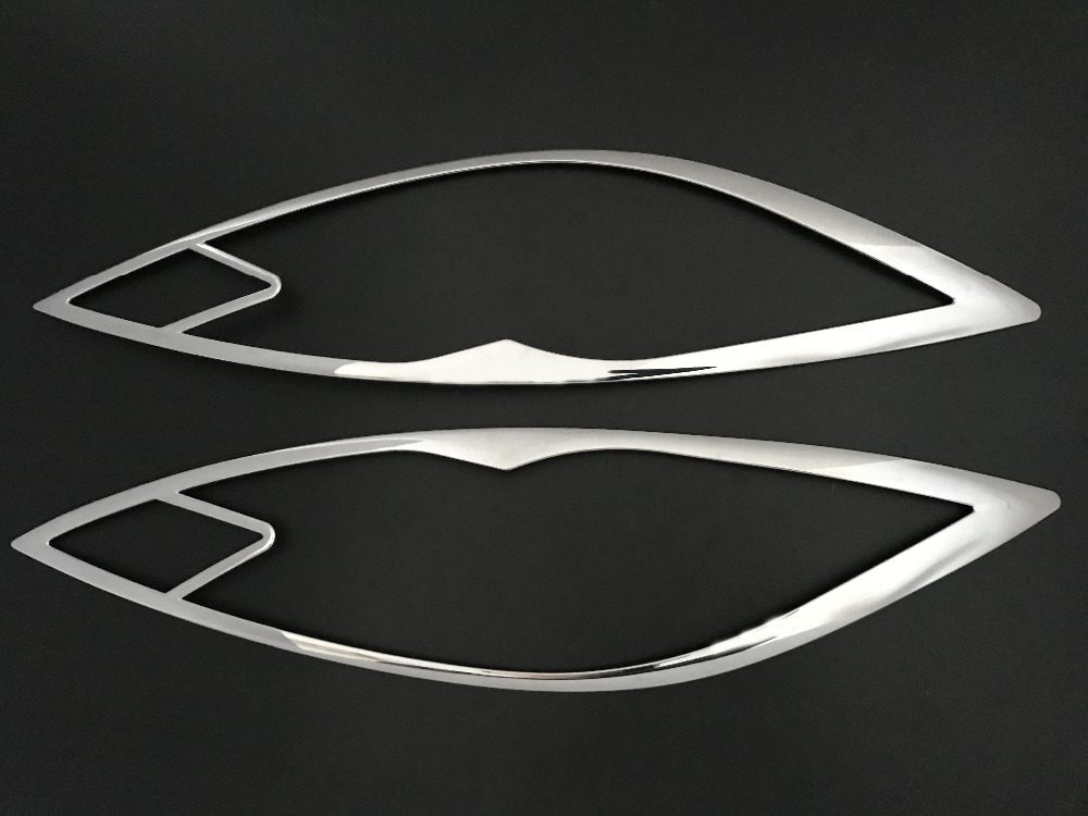 Hot sell ABS Chrome Front headlight Lamp Cover For 2009-2012 <font><b>Mazda</b></font> <font><b>6</b></font> <font><b>2010</b></font> image