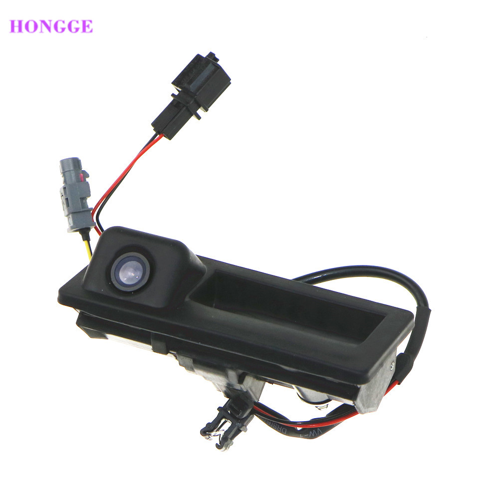HONGGE 12V Parking RGB Reversing Video Camera For VW Tiguan A4 A6 Q5 RNS510 RCD510 5ND 827 566 C 5N0 827 566C 5ND827566C tuke rns310 rns315 rcd510 rns510 oem vw tiguan connect the electric wire reversing camera module