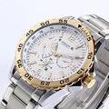 Top marca Julius homens de aço inoxidável relógios de pulso de quartzo impermeável relógio militar Relogio Masculino