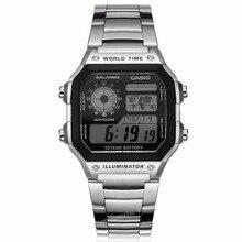 Casio zegarki top marka luksusowe męskie sportowe ae-1200whd-1a cyfrowy wodoodporny kompletna kalendarz alarm relógio zespół ze stali nierdzewnej